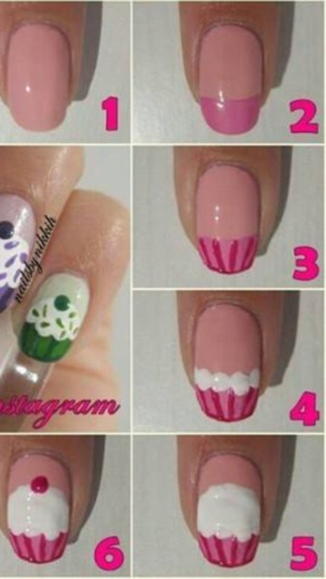 Cupcake Nail Art Peachys Mode